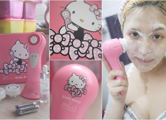 「保養」潔膚的親民選擇,Hello KittyXNeogence音波淨化潔膚儀 水嫩新肌BOX