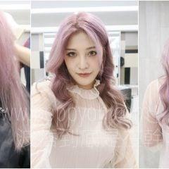 「變髮」超顯白的淺紫紅髮色,染髮漂髮褪色全記錄