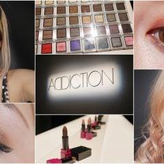 「彩妝」日本必買的專櫃彩粧ADDICTION來台灣了,粉底液/眼影/腮紅/唇膏開箱試色&化粧教學