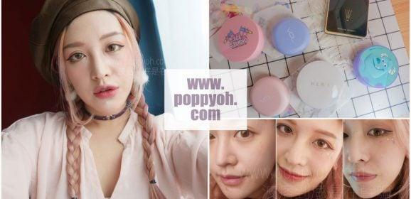 「彩妝」5款韓系氣墊粉餅殘酷評比,6小時起跳不補妝全面實測遮瑕/保濕/持妝度|韓國品牌HERA/THEFACESHOP/Apieu/VDL/3CE