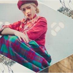 文青穿搭日誌Vol.1|貝蕾帽、漢服與毛呢格子長裙,台灣傳統服飾與歐美風配件混搭的反差萌