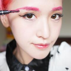 自製彩色染眉膏教學|為特殊髮色的眉毛煩惱?超簡單超便宜自製特殊色染眉膏+化妝教學