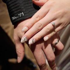 「指彩」純白夢幻的新娘光療,結婚一定要白色+水鑽+蕾絲三元素