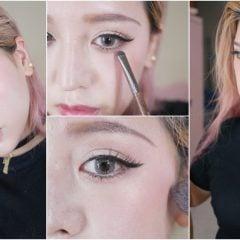 「妝容」畫完氣場飆升,歐美X日系打造個性厭世日常妝|霧面眼影的眼窩/下眼影畫法教學