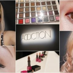 ADDICTION眼影化妝教學|日本必買的專櫃彩粧ADDICTION來台灣了,粉底液/眼影/腮紅/唇膏開箱試色&化粧教學