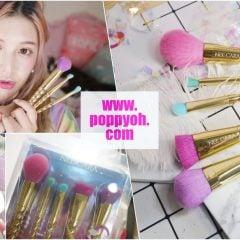 「彩妝」超夢幻!Nee Cara獨角獸刷具組開箱|泰國品牌平價可愛刷具