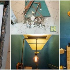 老屋改造|省錢DIY改造工程,壁癌廢墟變身工業風文青廁所|71的老屋改造翻新